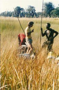 doug in the okavango