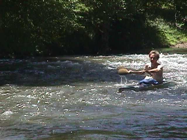 doug in a canoe